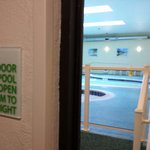 Pool and hot tubs. Key card required to enter. Open shower to rinse off available along with sma