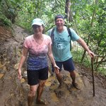 Hiking in the mud