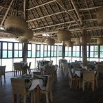 The dining-room area right on the beach.