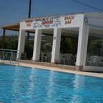 The pool and pool side Splash Bar
