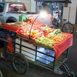 Street Cart vendors outside the front door each night for snacks