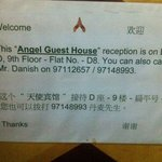 Angel guest house in chung king mansion; where is the reception?!??