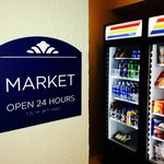 Enjoy your favorite beverage or snack from our 24-Hour Market in Hotel Lobby