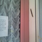 A mezuzah on the front doorway (Solomon Mier was a Jewish immigrant). Holds a scroll of scriptur