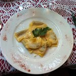 Home made pumpkin ravioli