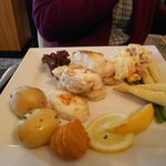 Main course of Monkfish at restaurant