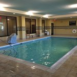 Swimming pool was a pleasant temperature, clean and well-lit. Ample chairs and towels.