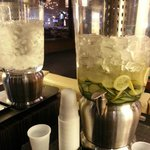 Cucumber water in the lobby - free to everyone