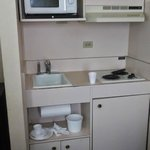 Room kitchenette, a little grimy