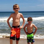 My grandsons at the beach!
