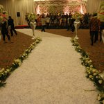 Path of flowers down the aisle