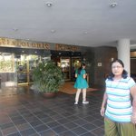 Main enterence to hotel with Mrs. Uma Devendra Singhal