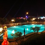 Pool area at night ��