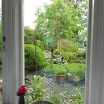 The Dining room looking out at the garden
