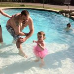 My brother and niece! Perfect pool area for all!