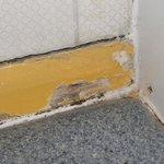 Rotten skirting in bathroom