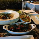Delicious Thai food at hotel restaurant