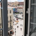 The view of Rossio Square from the Escritor Room