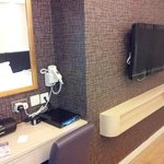 Desk and wall mounted TV