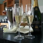 Champagne delivered to your room