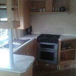 Bronze caravan kitchen