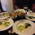 Seasonal starter - Asparagus with poached egg and Hollandaise sauce - delicious!