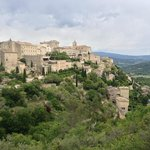 Breathtaking view of hillside town in Gordes