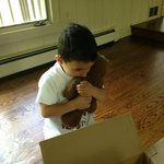 A boy reunited with his lost Bear. Thank you Michael Murray!
