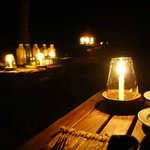Dinner by candle light everynight!
