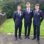 My brother on the right just gave us his measurements, the tailors did the rest.