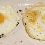 breakfast eggs - crispy bottom, raw top