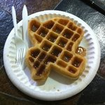 Texas shaped waffel