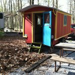 My little red wagon at Ramblin Pines