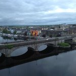 From our window the Shannon River in the evening