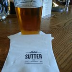 Enjoying an adult beverage at the Hotel Sutter bar... Lagunitas IPA!