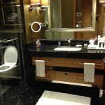Clean, spacious bathroom with separate toiler, shower and bathtub