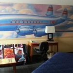 TWA Theme Room Airplane Mural