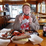 Eugene in his Lobster Heaven!