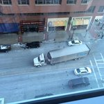 Truck at intersection in front of hotel 20 sec later.