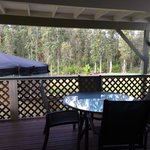 Love the private deck!