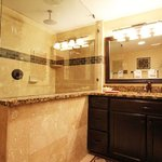 Beautifully remodeled bathroom in a premium studio unit