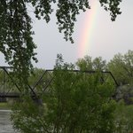 BEAUTIFUL RAINBOW OVER THE HISTORIC 1908 BRIDGE OUTSIDE THE GRAND UNION BLESSED OUR SPECIAL DINN