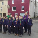Scout Group before heading off to Castle Saunderson