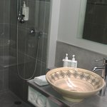 superior double shower/ toilet room