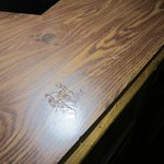 stain on desk
