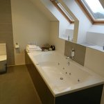 The spacious and relaxing jetted tub in the Sallachan room.