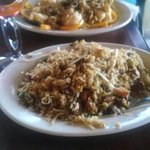 Great walnut chicken and fried rice