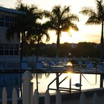 Sunrise over the pool & intercoastal.