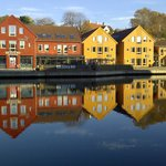 Kristiansand harbour in Norway