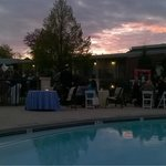 Business Reception Event Hosted Poolside / Courtyard